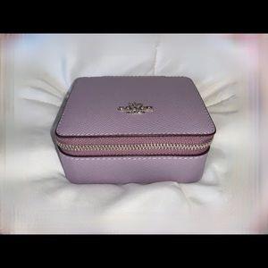 Coach Jewelry Box In Lilac/Silver